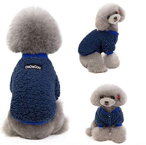 YBBT Ropa para Mascotas Abrigo para Perros Suéter para Perros El suéter para Perros Suave, cómodo, cálido y Resistente al frío es Adecuado para Perros pequeños, medianos y Grandes