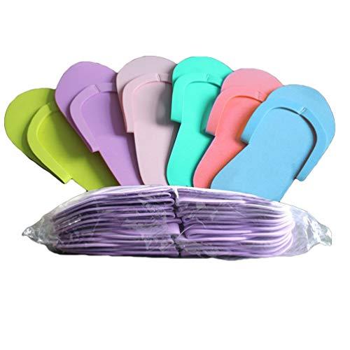 Angoily 36 Pares de Zapatillas de Pedicura de Espuma Multi Color Flip...