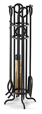 NAPA FORGE, Black Pilgrim Home and Hearth 19004 Arts and Crafts Fireplace Tool Set, 29?, 16 lbs by Pilgrim Home and Hearth