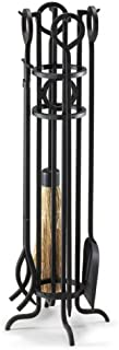 NAPA FORGE, Black Pilgrim Home and Hearth 19004 Arts and Crafts Fireplace Tool Set, 29″, 16 lbs