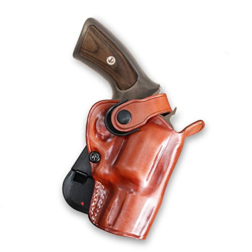 Masc Leather Paddle OWB Revolver Holster with Retention...