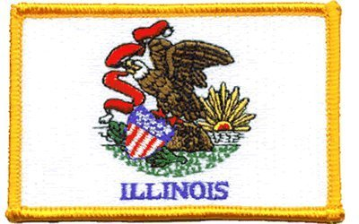 The Flag of ILLINOIS Patch parche