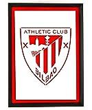 Cuadros Blangar Cuadro Escudo Athletic Club Bilbao con Marco Lacado Negro