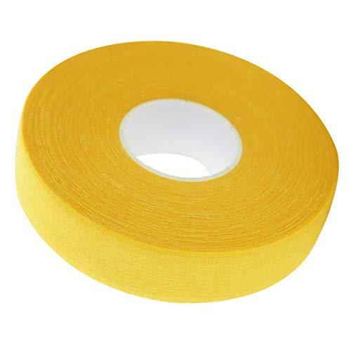 SM SunniMix 25mx5cm Eishockeyschlägerband Selbstklebendes Putter Wrapper Protector Band - Gelb, 25m