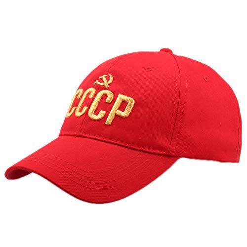 Carta Gorra De Béisbol De Algodón CCCP Soviética Sombrero Casual Soviet Soviet Conmemorativa Sombrero De Sun