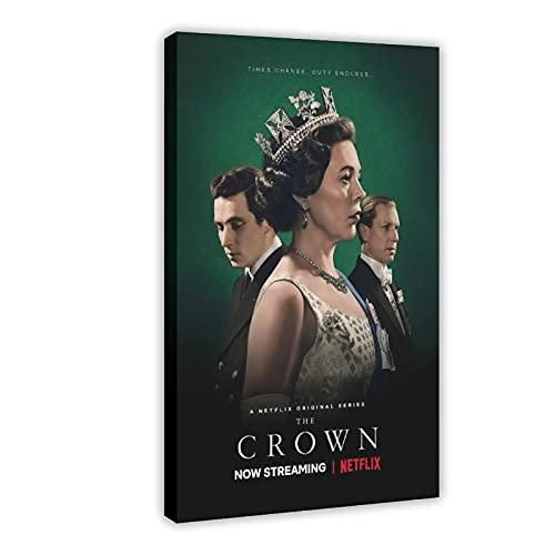 Poster sur toile The Crown Saison 3 - Décoration murale - Pour salon, chambre à coucher - 60 x 90 cm
