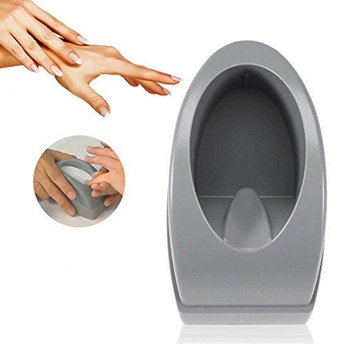 Nail Dip Container, Nail Art Français Trempette Smile Line Maker Français Nail Art Guide Outils de manucure(gris)