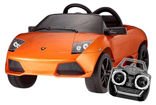 F Style Electric - Vo3381300orange - Véhicule Électrique pour Enfant - Lamborghini - Murcielago - LP 640-4 Roadster Licence