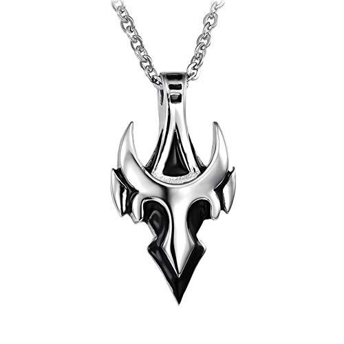 GuDeKe de los Hombres Acero Inoxidable Flecha Forma de Tauren Collar Colgante 22'Cadena