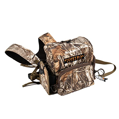 Fortem Outdoors Bino Harness Chest Pack Binocular Harness Bag for Hunting and Rangefinder Case Hunting Pack for Bird Watching, Travel, Hunting, Concerts, Sports
