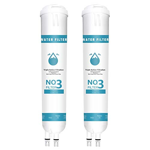 4396841 Perfect Ice Refrigerator Water Filter Cap, Compatible with EDR3RXD1, Filter 3, 4396841, 4396710, Kenmore 46-9030, Pur W10121145, W10121146(2 Pack,White)