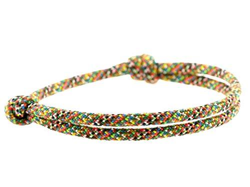 KOMIMAR Surfer Armband MOTLEY - Strand Schmuck - lässig - Surfstyle - Fußband - Armreif - Freundschaftsarmband - Nautische Armbänder - Herren Armband - Damen Armband - Kinder Armband
