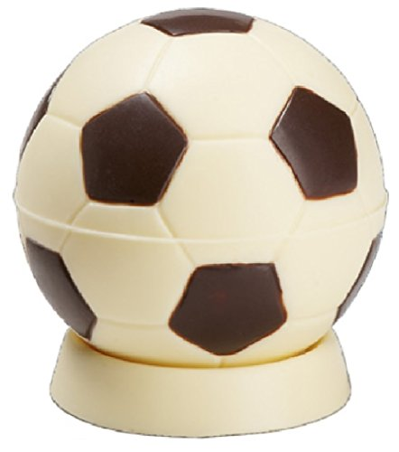 08#020221 Schokolade Fußball auf Sockel, Tor, Fußballverein, Tortendekoration,