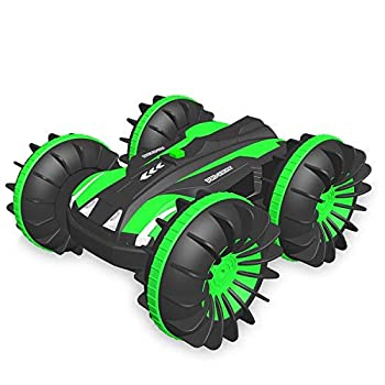 Kids Toys Rc Cars for 4-12 Year Old - Outdoor Amphibious Beach Sand Land Water Pool Rc Boats Waterproof Stunt Vehicle Electric Car for 3 4 5 6 7 8 9 10 11 12 Age Birthday Christmas