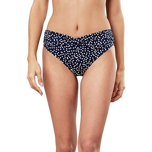 Joules Belle Bikini Bottoms UK 16 Reg Navy Spot