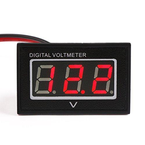 Droking DC 2.5-30V Spannungsmesser Spritzwassergeschütztes Digital-Voltmeter Rotes LED-Digitalanzeige-Panel Volt-Test-Meter 12V 24V Batterie-Monitor für Auto-Auto-Motorrad-Fahrzeug