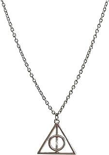 Necklaces البساطة التيتانيوم سلسلة الصلب قلادة، الأزياء شخصية زوجين قلادة، سبائك قلادة شكل شكل شكل مثلث Necklace for Women...