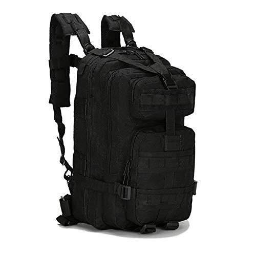 PULUSI 20-35L Militare Tactical Zaino Army Assault Pack Molle Bug Out Bag Zaino Zaini per Outdoor Escursionismo, Campeggio Arrampicata Balck (43,2 x 24,1 x 21,6 cm