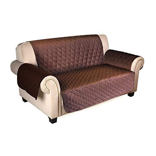 KTUCN Fundas de sofá, Fundas de sofá Impermeables para Perros, Mascotas, niños, Fundas reclinables Antideslizantes, Protector de Muebles para sillón, Café Oscuro, 1 Seater