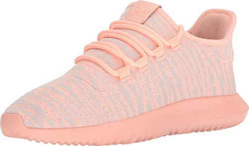 adidas Originals Kids Girl's Tubular Shadow J (Big Kid) Clear Orange/White/Light Pink 4 M US Big Kid