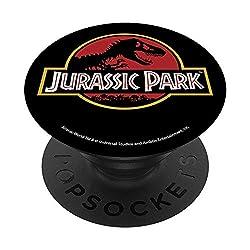 4. Jurassic Park Classic Logo T-Rex Skeleton PopSocket