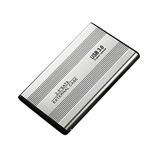 USB Disco Duro, 2.5 inch 500GB/1TB/2TB Metal Funda USB Externo Disco con Bolsa de Almacenamiento para Escritorio, Portátil - Plata 2tb