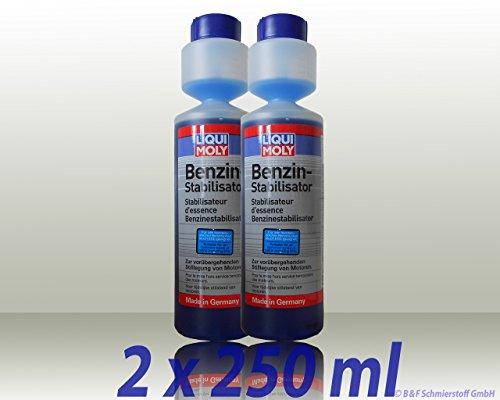 2x 250ml Liqui Moly Benzin-Stabilisator Benzin-Stabilisator Stabi Zusatz Benzinzusatz Kraftstoff-Additiv