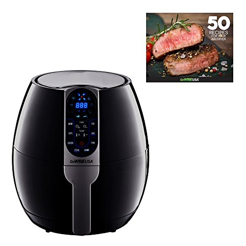 GoWISE USA 3.7-Quart Programmable Air Fryer with 8 Cook...