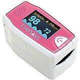 ちゃいなび パルスオキシメーター 血中酸素濃度計 医療機器認証 ポーチ・カバー付 チェリーピンク MD300C5
