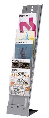 Paperflow 344645 - Expositor de pie, metálico, 7 casillas