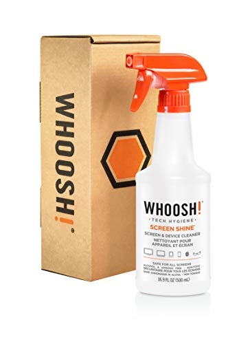 WHOOSH! Screen Cleaner Bottle - Best for Smartphones, iPads, Eyeglasses, Kindle, Touchscreen & TVs - Refill Bottle