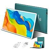 Tablet 10 Pulgadas 4GB de RAM 64GB/128GB de ROM Android 10.0 Certificado por Google GMS Tablet PC Barats y Buenas Batería 8000mAh Quad Core 4G Dual 8MP Cámara Netflix WiFi Bluetooth GPS OTG(Verde)