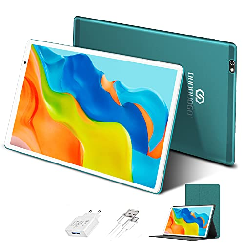 Tablet in Offerta Android 10.0 Certificato Google GMS Tablet PC 4GB RAM 64GB/128GB Espandibili Tablet 10 Pollici con Wifi Offerte 8500mAh 4G Dual 8MP Fotocamera Tablet Android Bluetooth OTG(Verde)