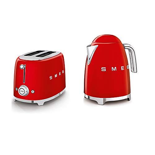 SMEG 2-Slice Toaster & 1.7-Liter Kettle in Red