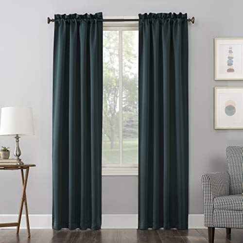 "84""x40"" Kenneth Rod Pocket Blackout Curtain Panel Teal - Sun Zero"