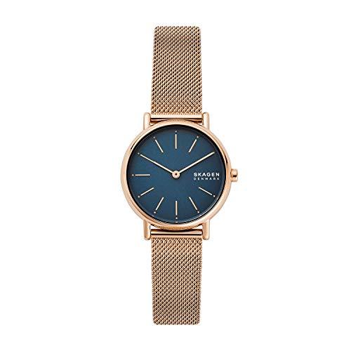 Skagen Damen Analog Quarz Uhr mit Edelstahl Armband SKW2837