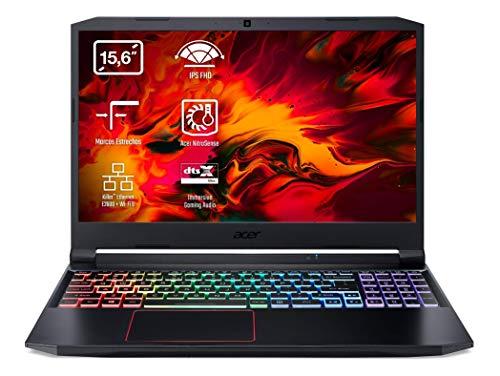 "Acer Nitro 5 AN515-55 - Portátil Gaming 15.6"" FullHD (Intel Core i7-10750H, 16B RAM, 1TB SSD, Nvidia RTX2060, Sin SO), Teclado QWERTY Español, Color Negro"