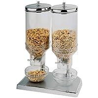Il meccanismo del rubinetto rilascia porzioni misurate. Ideale per colazioni a buffet e per uso domestico. Materiale: plastica e acciaio inossidabile.