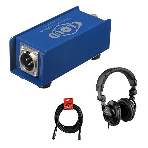 Cloud Microphones Cloudlifter CL-1 Mic Activator with HPC-A30 Studio Headphones & XLR Cable Bundle