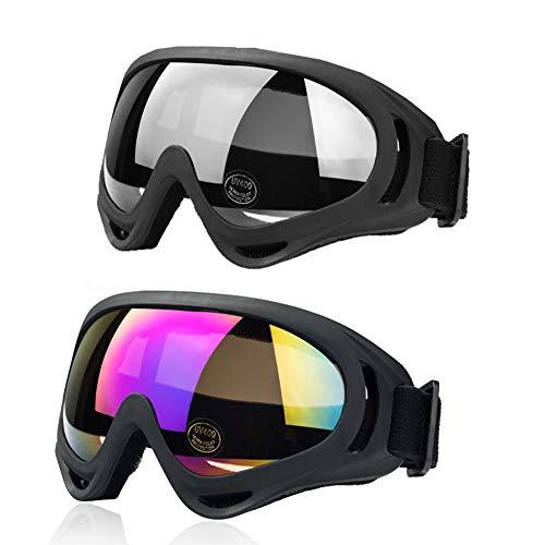 JTENG スキーゴーグル スノボゴーグル UV400 紫外線カット 耐衝撃 防塵 防風 防雪 目が疲れにくい 登山/ス...