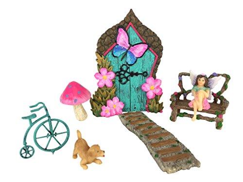 Juego de Casa de Hadas en Miniatura - Juego de 7 piezas para Jardín de Hadas de GlitZGlam - El...