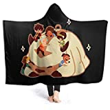 Pulchrumcs Avatar The Last Airbender Appa Hooded Blanket Throw Fleece Flannel Blanket Ultra Soft Lightweight Wearable Plush Bedding Cosy Blanket Quilt for Kids Adult Sofa Bedroom Gift 50'X40'