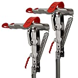HighFree Automatic Spring Fishing Rod Holder 2 Pack Stainless Steel Fishing Pole Stand with Single Spring Loaded Tip-up Action for Ground Support Brackets