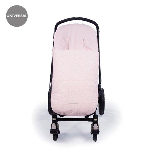 Pasito a pasito 73562 - Funda para silla de paseo universal con saco verano, diseño vichy rosa petite etoile
