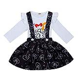 Moneycom: camiseta de manga larga con letra impresa, para recién nacidos y ropa estampada para Hallo...