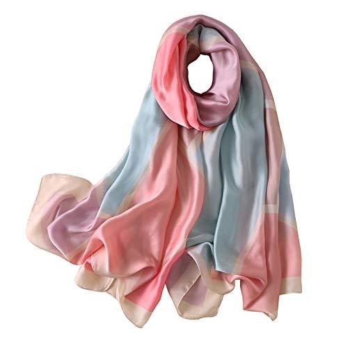 buenos comparativa shepretty Shawl Beach robó una bufanda de seda de imitación de mujer, 180 * 90 cm, D2007rosa y opiniones de 2021