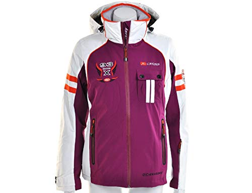 Exxtasy - Bennet - Damen Skijacke, Purple/Weiß/Orange, 34
