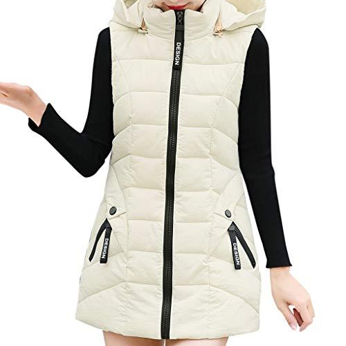 Fapluレディースコート冬の女性コットンポケットジッパージャケットノースリーブコートショートチョッキ生き抜く