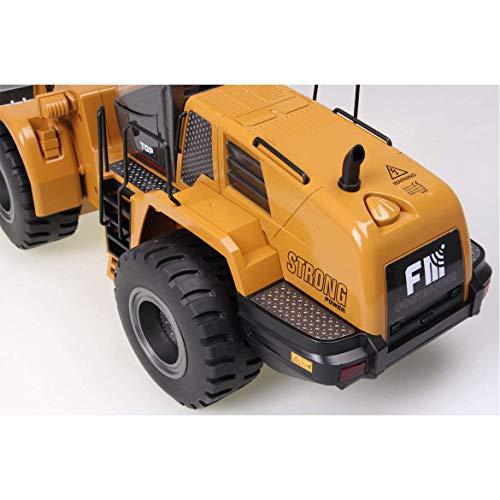 RC Auto kaufen Baufahrzeug Bild 3: FM- Electrics FM1583  Die Cast Metall-Radlader mit Sound 1:14 mit 10 Kanal Sender Huina 583*