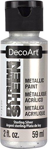 DecoArt Americana Extreme Sheen - Tarro de pintura (acrílico, plata de ley,...